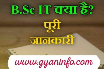 बीएससी आईटी (B.Sc IT) क्या है Full Information In Hindi