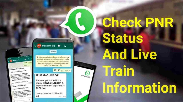 How To Check PNR Status Using WhatsApp In Hindi