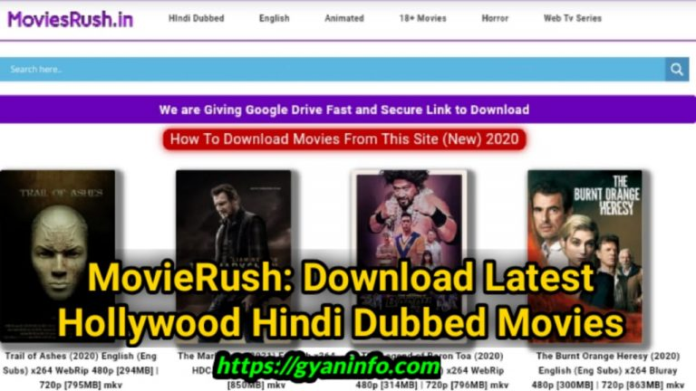 Moviesrush Download Latest Hollywood Hindi Dubbed Movies Free