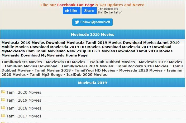 Isaimini Download HD 300MB Malayalam, Tamil, Telugu Movies Free