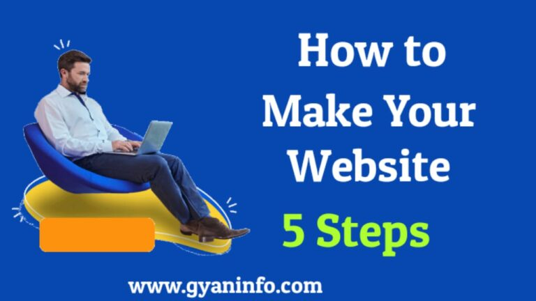 Make Your Website Only Five Steps With Full Informtion